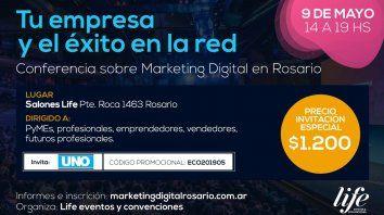 conferencia sobre marketing digital en rosario: tu empresa y el exito en la red