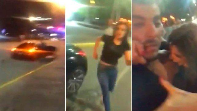 El video de Charlotte Caniggia agrediendo a Lhoan en la vía pública