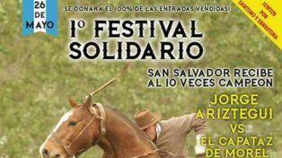 Por Santino y Ernestina, organizan una doma solidaria en San Salvador
