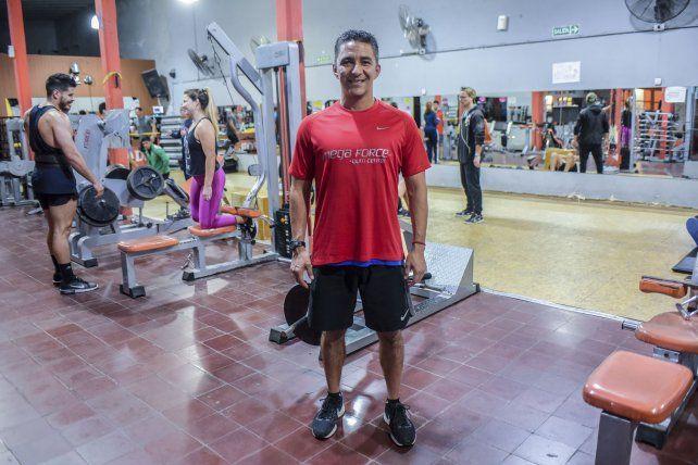 El profe Mariano Vaca uno de los dueños de Mega Force Gym Center.