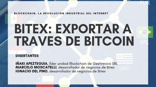 Este viernes habrá una charla gratuita sobre Exportar a través de Bitcoin
