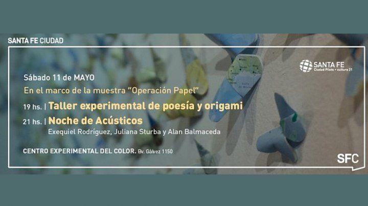 Operación papel: Origami, poesía experimental y acústicos