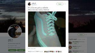 Desafío viral: ¿de qué color es esta zapatilla?