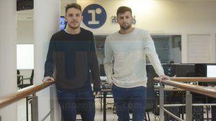Organizadores. Los paranaenses Luciano Nóbile y Tomás Cacciabue son las caras visibles de este evento que convoca a jóvenes de 14 a 19 años en un campo de fútbol 5.