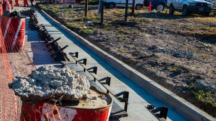 Finaliza la obra de ensanche vial en el acceso al Parque Industrial