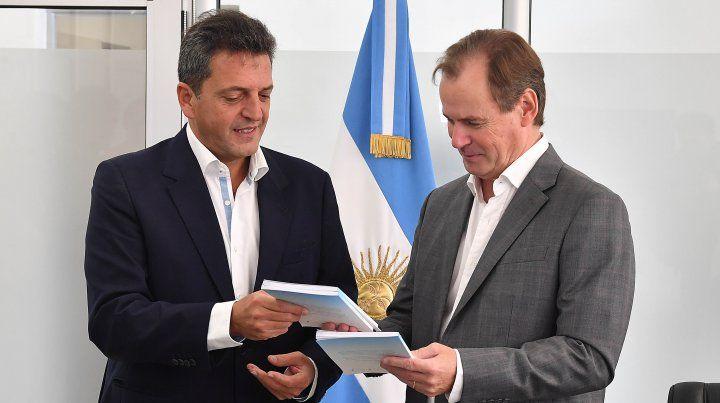 Bordet y Massa analizaron el acuerdo propuesto por el gobierno nacional