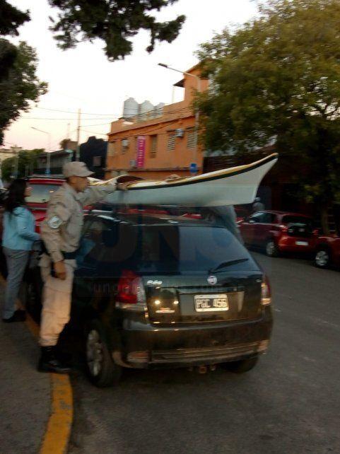 Recuperada. La embarcación se ofrecía en las redes sociales a 14.000 pesos.