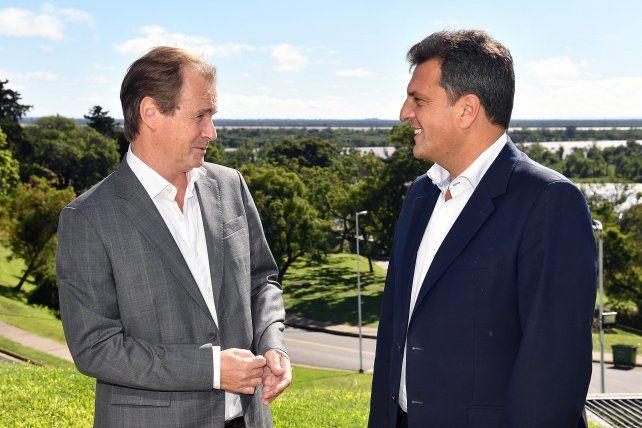Encuentro. Massa quiere que los gobernadores sean ordenadores y elogió con énfasis a Bordet.