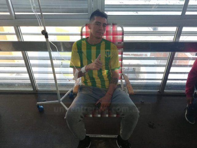 El jugador ya se encuentra en su casa. FotoUNOLautaro López