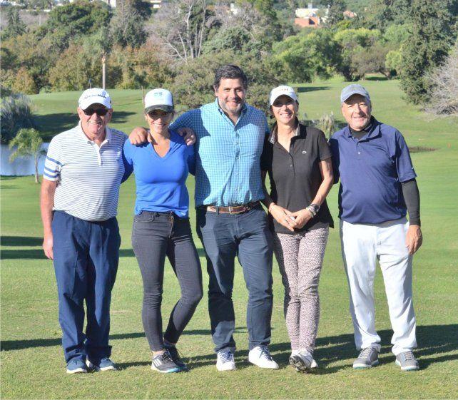 Fueron tres días a puro golf en  la cancha de Estudiantes