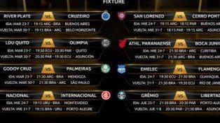 Fechas y horarios de los octavos de la Libertadores