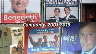 Afiches de campaña 2001-2015