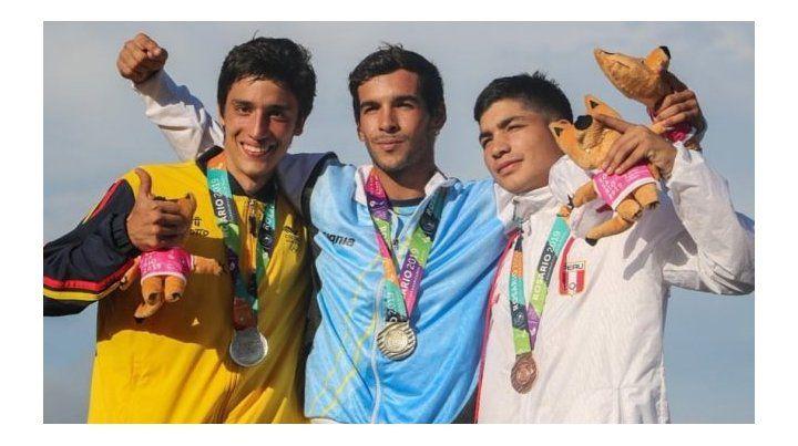 El podio en los Juegos de Playa 2019.