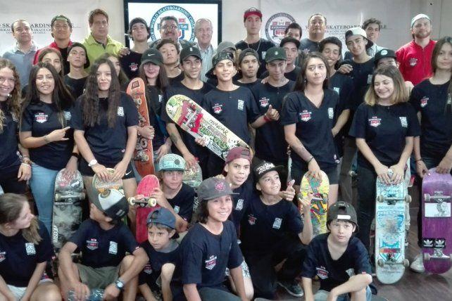 Chile presentó su equipo de skateboarding el 8 de enero de 2018.