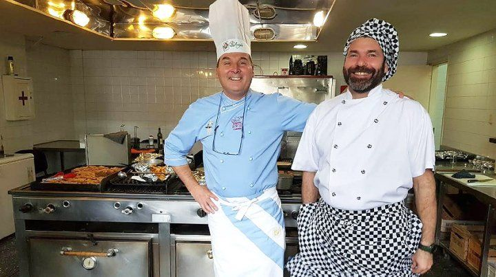 En plena acción. El entrerriano es considerado gran chef internacional.