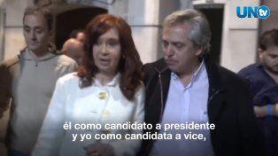 El video con el que Cristina anunció su candidatura a vice