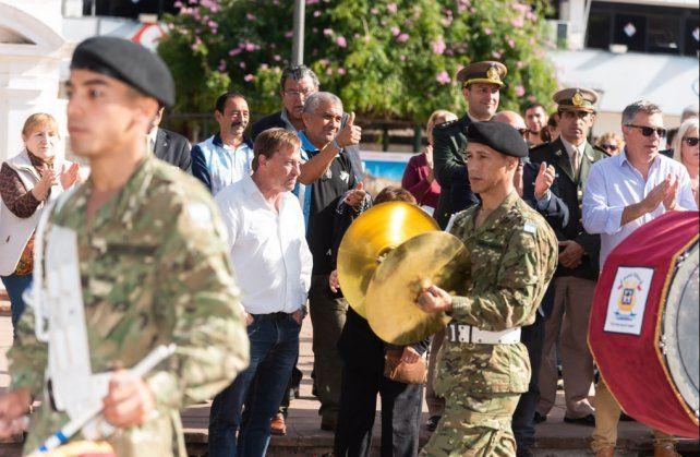 Música en plaza 1° de Mayo para conmemorar el Día de la Escarapela