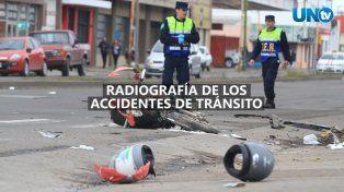 Radiografía de los accidentes de tránsito en Paraná