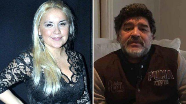 Escándalo: Verónica Ojeda descubrió mensajes de Diego Maradona con Rocío Oliva y regresa a la Argentina con su hijo