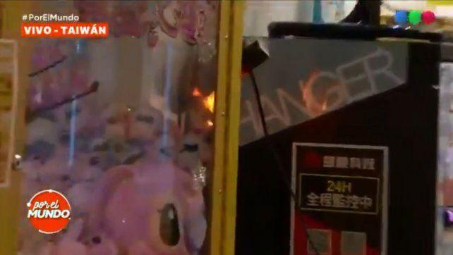 VIDEO: La Negra Vernaci provocó un incendio en Taiwán