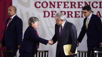 Acuerdo. Alicia Bárcena, secretaria de la Cepal, y Andrés Manuel López Obrador, presidente de México.
