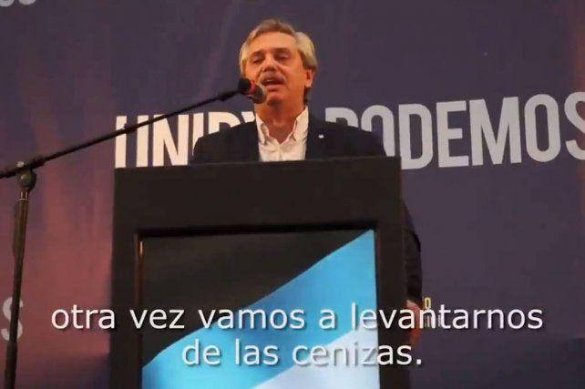 Alberto Fernández lanzó su primer spot de campaña sin imágenes de Cristina