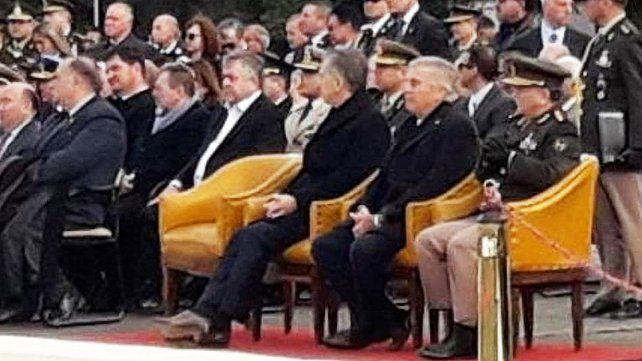 Macri se mostró cerca de Stornelli en el acto oficial por el aniversario del Ejército