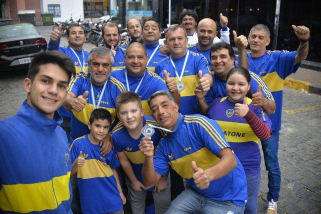 Salió la selfie de Boca Juniors.