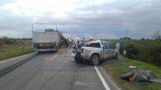 por el choque de dos camiones y una camioneta perdio la vida un paranaense