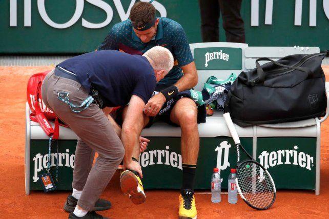 VIDEO: El resbalón de Del Potro que generó preocupación y la posibilidad de retiro de Roland Garros