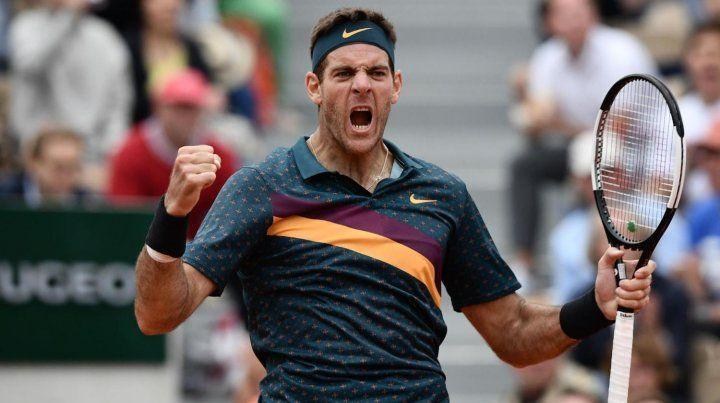 Del Potro batalló para avanzar a tercera ronda de Roland Garros