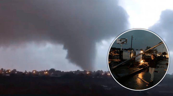 Los impactantes videos del tornado que causó terror al sur de Chile