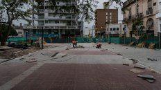 en plaza alvear ya se visualizan los cambios del plan de obras de remodelacion de la peatonal san martin