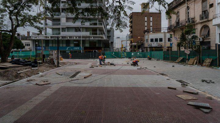En Plaza Alvear ya se visualizan los cambios del plan de obras de remodelación de la Peatonal San Martín