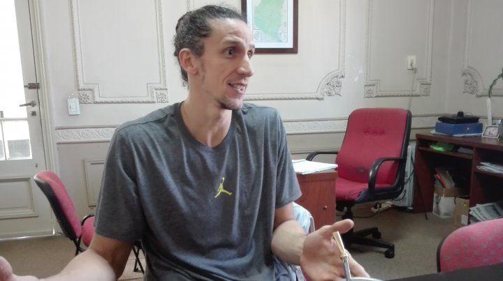 Mano a mano. El experimentado jugador dialogó en forma exclusiva con Ovación y tocó varios temas.