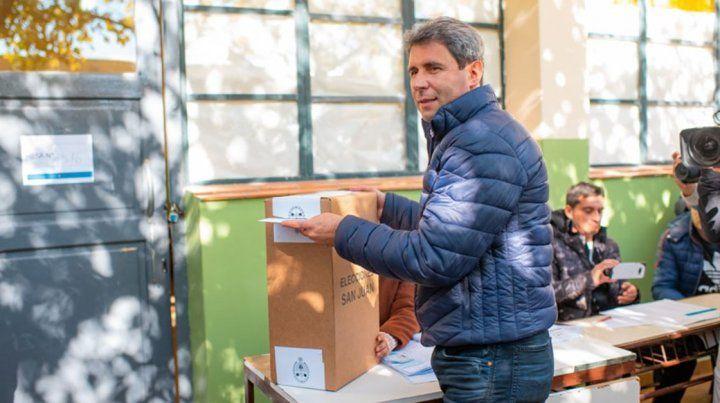 El gobernador de San Juan, Sergio Uñac, se impone con más del 57%
