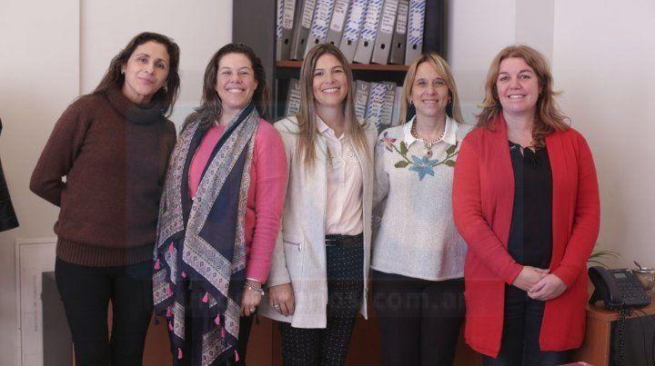 Equipo. Las integrantes de la Oficina de Violencia de Género