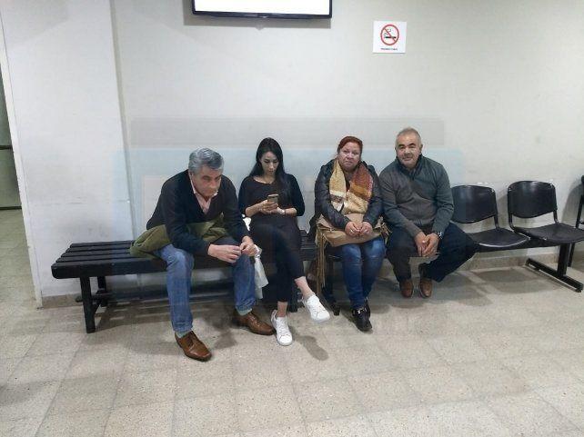 Angustiados. Los familiares de Rodríguez quieren una pena de prisión efectiva.