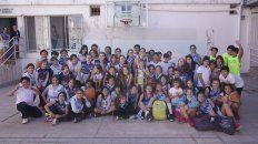 En la Catedral. Las chicas de los clubes y de escuelas municipales vivieron a pleno la jornada en el Atlético Echagüe Club. Y jugaron en el mítico Luis Butta.