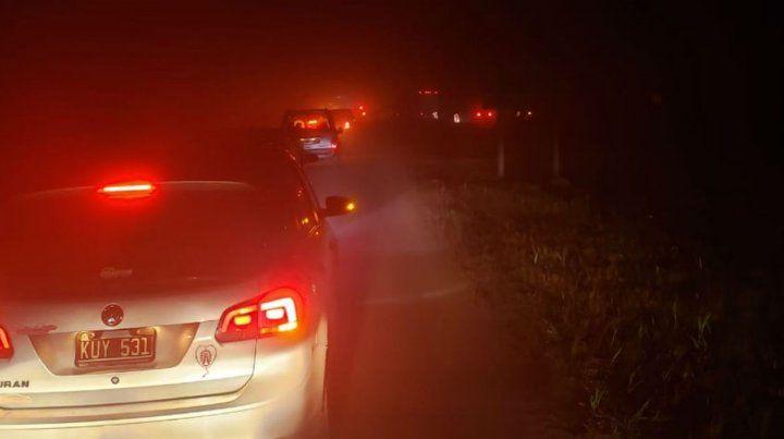 Un ternero suelto en ruta 18 provocó un grave accidente