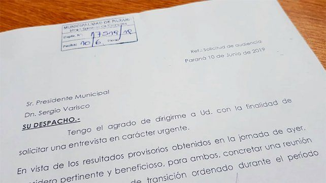 Bahl solicitó una audiencia urgente al intendente Varisco