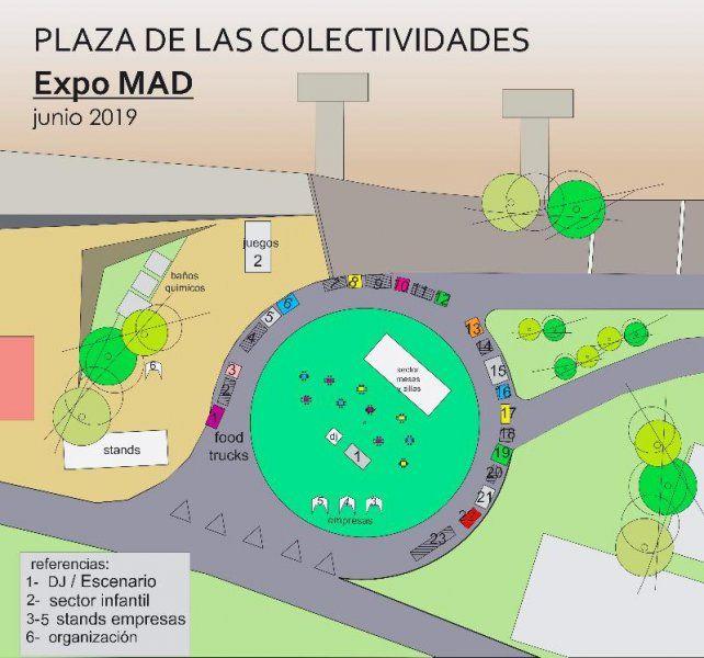 El plano de la expo.