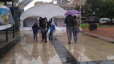compras para el dia del padre, bajo la lluvia