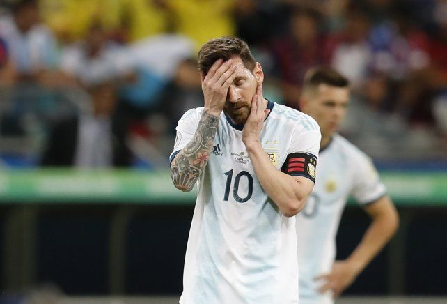 Messi; tuvo un partido aceptable pero no alcanzó.