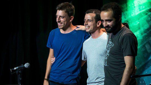 Invitados. Juan Quintero, Andrés Pilar y Santiago Segret; el Trío Patio.