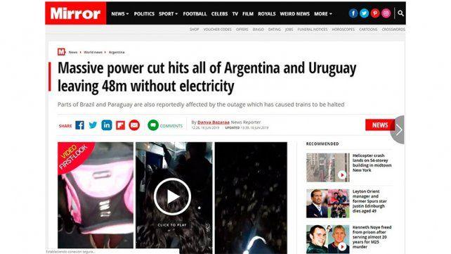 Qué dicen en el mundo del apagón argentino