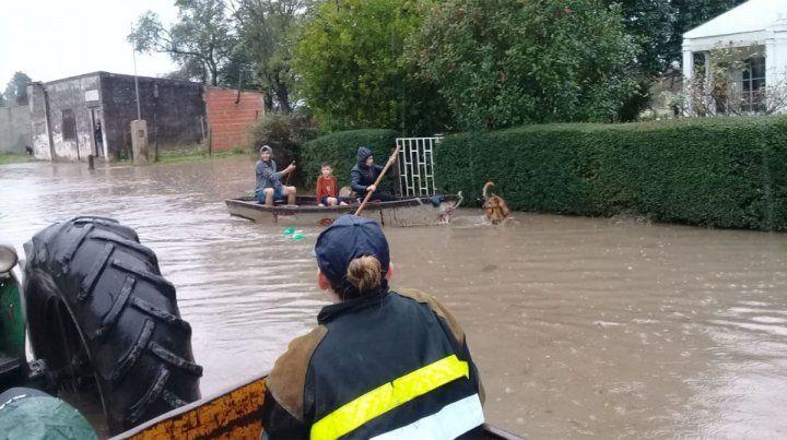 Rosario del Tala, la más afectada por el temporal