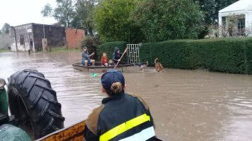 asistencia a 250 afectados por las lluvias