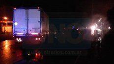 chocaron un camion y un automovil en el ingreso a crespo