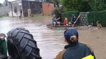 en rosario del tala 170 personas permanecen evacuadas
